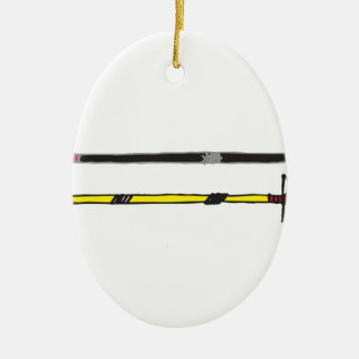Arrows Ceramic Oval Ornament