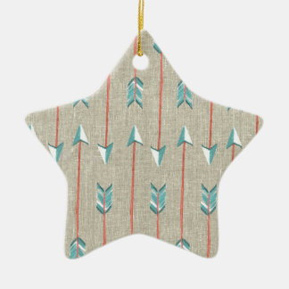 Arrows Ceramic Star Ornament