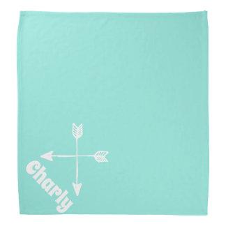 arrows light aqua personalized pet bandana