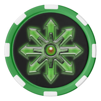Arrows of Chaos - Green Set Of Poker Chips