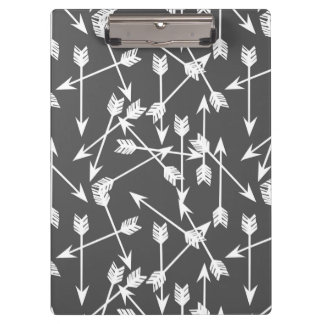 Arrows Scattered / Grey White / Andrea Lauren Clipboards
