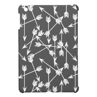 Arrows Scattered / Grey White / Andrea Lauren Cover For The iPad Mini