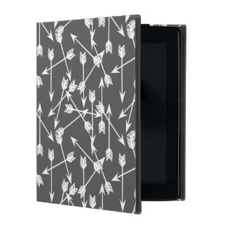 Arrows Scattered / Grey White / Andrea Lauren iPad Covers