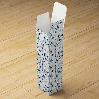 Arrows Scattered / Navy Mint Grey / Andrea Lauren Wine Boxes