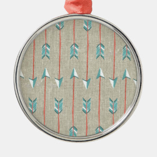Arrows Silver-Colored Round Ornament