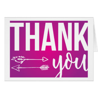 Arrows Thank You Card (Pink and Purple)