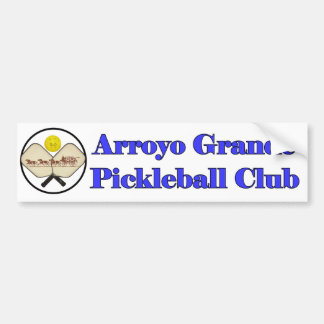 Arroyo Grande Pickleball Club Bumper Sticker
