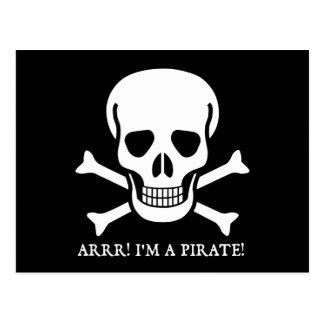 Arrr! I'm a Pirate! Post Card