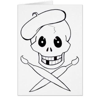 Arrrrtist Pirate (Skull and Crossbones) Card