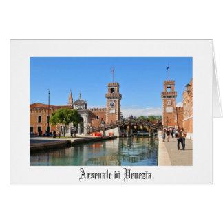 Arsenal in Venice, Italy Card