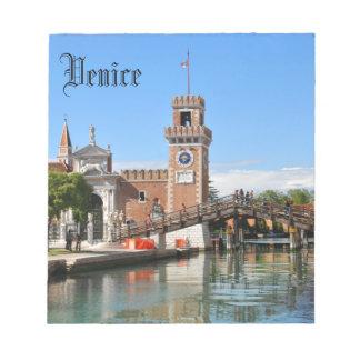 Arsenal in Venice, Italy Notepad