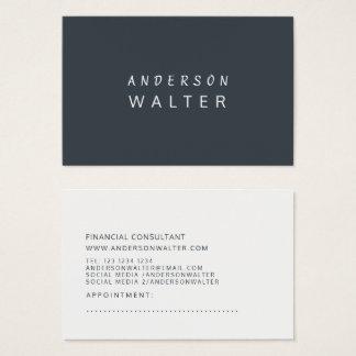 Arsenic Green Minimalist Bold Professional Modern Business Card