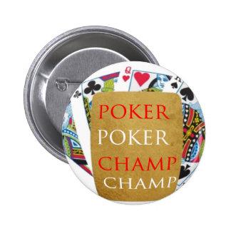 ART101 Poker Champion - Zazzle PlayingCards design Buttons