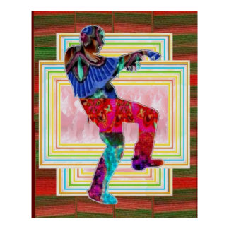ART101  Zombi Dance Print