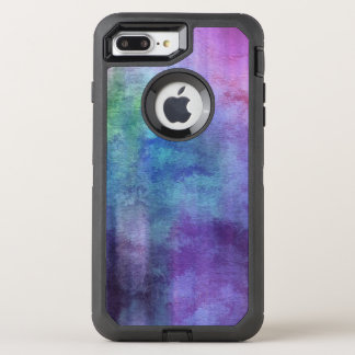 art abstract watercolor background on paper 2 2 OtterBox defender iPhone 8 plus/7 plus case