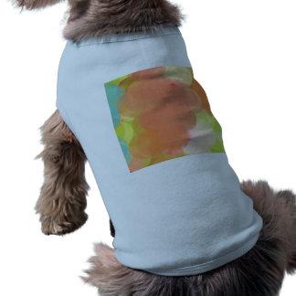 Art abstrait t-shirt pour chien