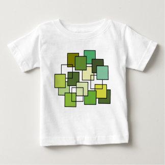 Art abstrait de carré de vert t shirts