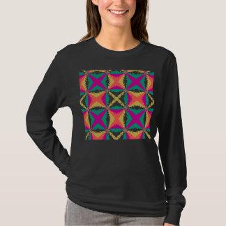 Art abstrait de remous coloré d'art déco rétro t-shirt