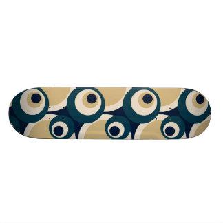 Art abstrait de rétros années '50 - planche à roul skateboard old school  21,6 cm