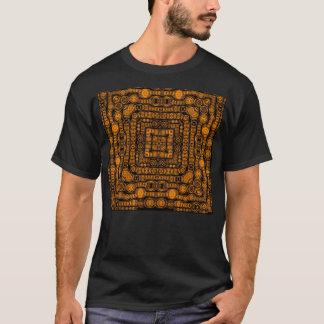 Art abstrait de rétros carrés d'or d'art déco t-shirt