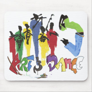 art and dance mouse pad