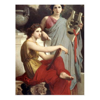 Art and Literature by William-Adolphe Bouguereau Postcard