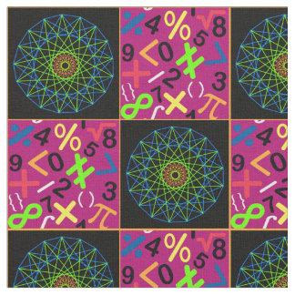 Art and Math Fabric, Magenta Fabric