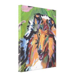 Art approximatif de chien de bruit de colley sur toiles