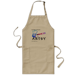 Art Apron- I'm just a little bit Artsy Long Apron