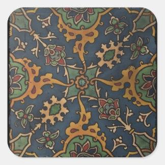 Art Arabique or Majorca Design Square Sticker
