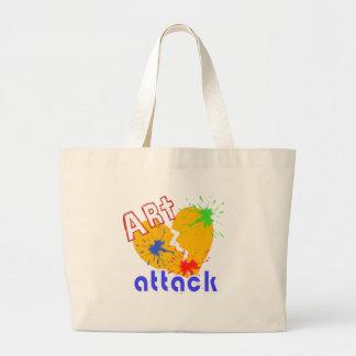 Art Attack Large Tote Bag
