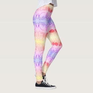 Art Attack - Pastel - by EelKat Wendy C. Allen Leggings