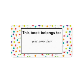 Art Attack Personalised book plates Label