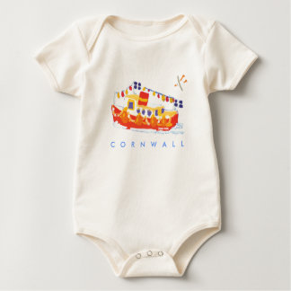 Art Baby: Falmouth Ferry Boat, Cornwall. Baby Bodysuit