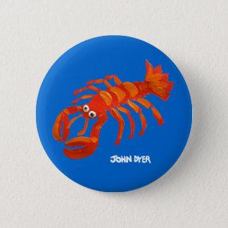 Art Badge Button: Cornish Lobster 2 Inch Round Button