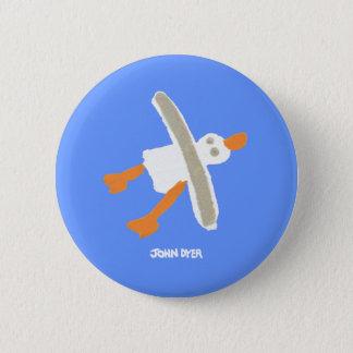 Art Badge Button: John Dyer Seagull 2 Inch Round Button