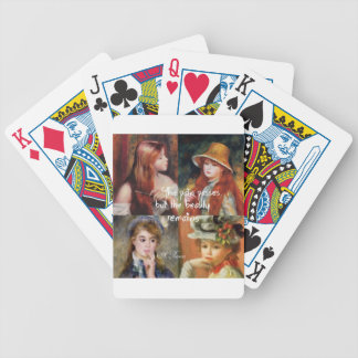 Art ,beauty and love in Renoir paintings Bicycle Playing Cards