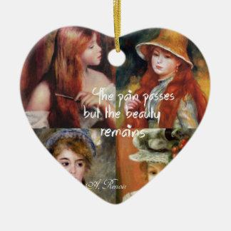 Art ,beauty and love in Renoir paintings Ceramic Ornament