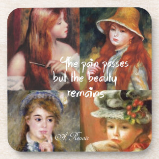 Art ,beauty and love in Renoir paintings Coaster