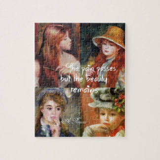 Art ,beauty and love in Renoir paintings Jigsaw Puzzle