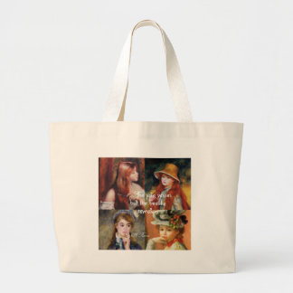 Art ,beauty and love in Renoir paintings Large Tote Bag