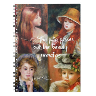 Art ,beauty and love in Renoir paintings Notebooks