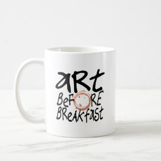 Art Before Breakfast mug