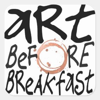 art before breakfast sticker