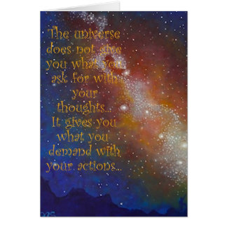 Art Blank Greeting Card, Galaxy, Space, Quote Card