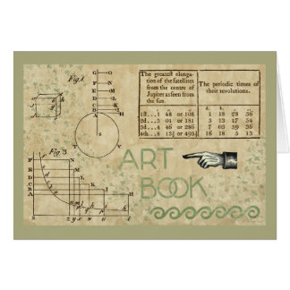 Art Book Math Diagram Numbers Card