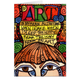 ART BRAIN Greeting Card