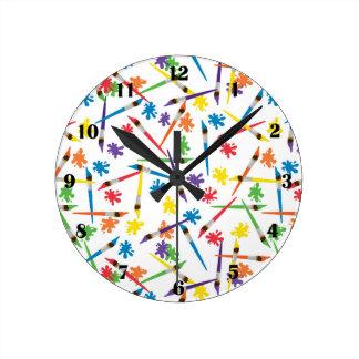 Art Brushes Clock