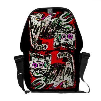 Art Brut Kitty Cat Bag by Katie Pfeiffer Commuter Bags
