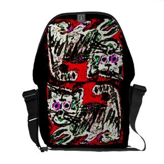 Art Brut Kitty Cat Bag by Katie Pfeiffer Courier Bag